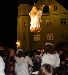 Advent im Allgäu, Engelefliegen in Isny