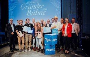 Gruppenbild Gründerbühne Allgäu 2019 © Allgäu GmbH, Isenhoffs