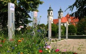 Kneipp-Aktiv-Park, Eingang Stelen, © Reinhard Braun