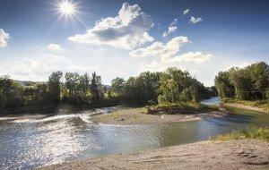 Illerradweg Iller Flussbett Umgehung Kempten © Fouad Vollmer Werbeagentur Mittelbiberach