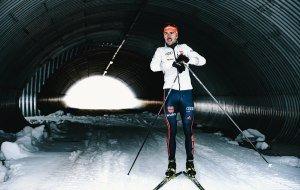 Johannes Rydzek im Tunnel, Langlaufstadion Ried, © Allgäu GmbH, Dominik Berchtold